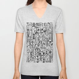 Medical Condition FADED DENIM / Vintage medical instruments, take two of these and call me in the mo Unisex V-Neck