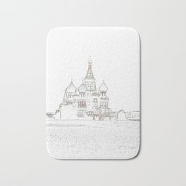 Saint Basil's Cathedral (on white) Bath Mat