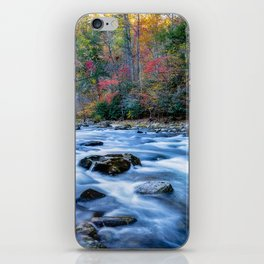 Fall in the Smokies - Autumn Colors at Laurel Creek in Smoky Mountains iPhone Skin