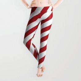 Candy Cane - Christmas Illustration Leggings