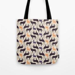 Antelopes and rabbits Tote Bag
