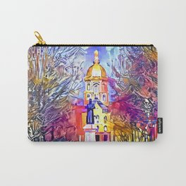 Father Sorin Statue on Notre Dame Main Quad Carry-All Pouch