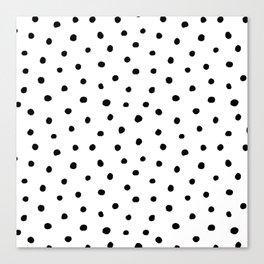 Polka Dot White Background Canvas Print