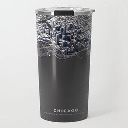 Chicago City Map I Travel Mug