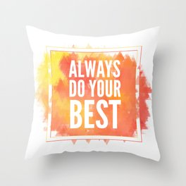 Motivation inks poster. Text lettering of an inspirational saying. Grunge paint vector element set. Throw Pillow
