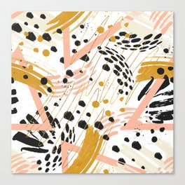 Strokes of abstract geometric shapes Canvas Print