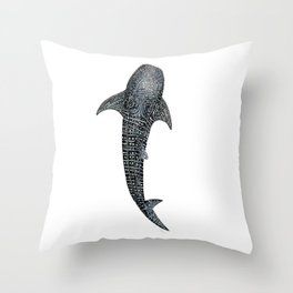 Whale shark for divers, shark lovers and fishermen Throw Pillow