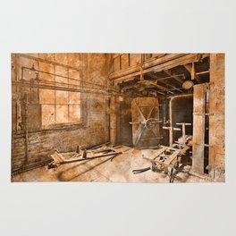 Vintage Acrylic Silk Mill Rug