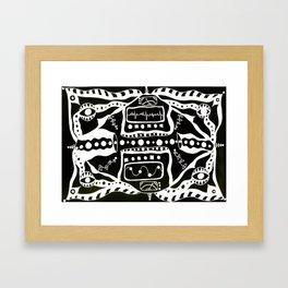 organic renders Framed Art Print