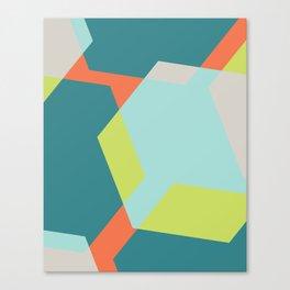 Hex - Teal Canvas Print