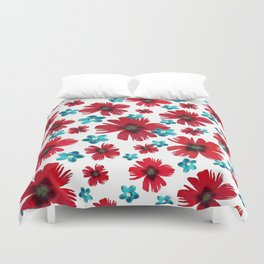 Carnations & Columbines Duvet Cover