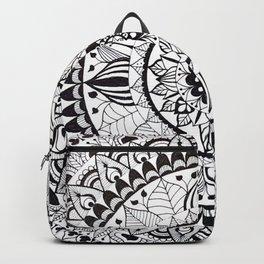 Mandala black and white Backpack