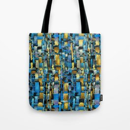 Gold and Turquoise Tote Bag
