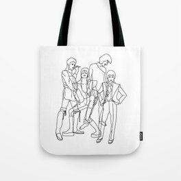 Davie Bowie Line Print Tote Bag