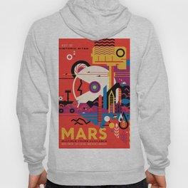 NASA Retro Space Travel Poster #9 Mars Hoody