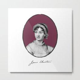 Authors - Jane Austen Metal Print