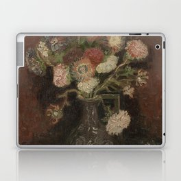 Vase with Chinese Asters and Gladioli Laptop & iPad Skin