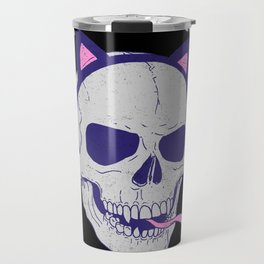 Skulls and Kittens Travel Mug