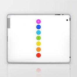 Chakra symbols with respective colors- Spiritual gifts Laptop & iPad Skin