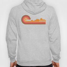 Retro Style Morgantown West Virginia Skyline Hoody