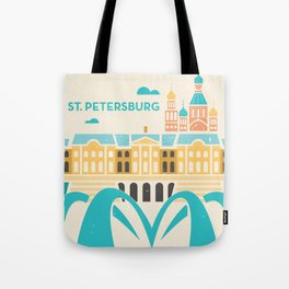 St. Petersburg Fountains Tote Bag