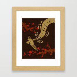 Flowing melody Framed Art Print