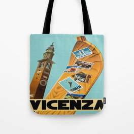 Vintage Vicenza Italy Travel Tote Bag
