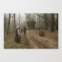 better watch out, he really likes mushrooms Canvas Print