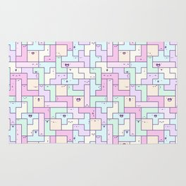 Kawaii Tetris Rug