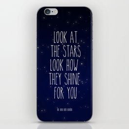 Look How They Shine For You 2.0 iPhone Skin
