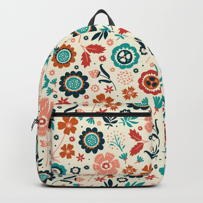 Folk Flowers Backpack