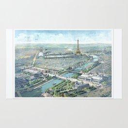 Paris art print Paris Decor office decoration vintage decor eiffel tower of Paris Rug