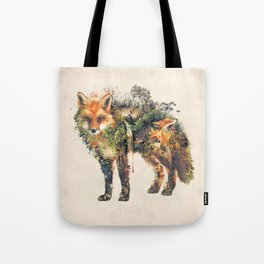 The Fox Nature Surrealism Tote Bag