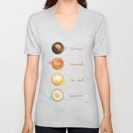 Coffee types Unisex V-Neck