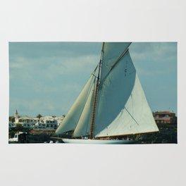 Classic Sailing Yacht Rug