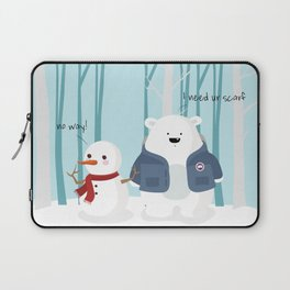 Mr Polar Bear Laptop Sleeve