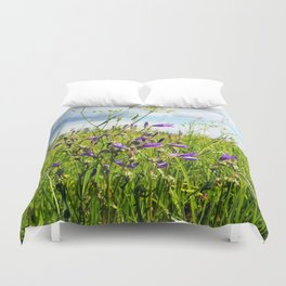 bellflowers in the grass Duvet Cover