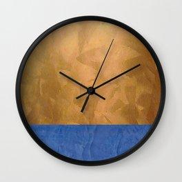 Copper Metallic With Tuscan Blue Stripe Trim Wall Clock