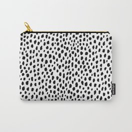 Dalmatian Spots (black/white) Carry-All Pouch