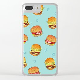 Hearty Burgers Clear iPhone Case