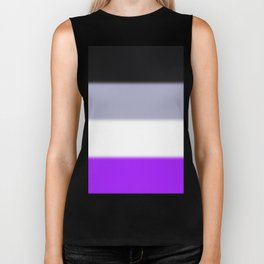 Asexual Pride Flag Biker Tank