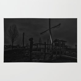 Ghost Ship in Black and White - Art Photography Rug