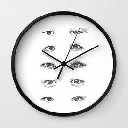 eye study Wall Clock