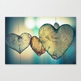 Hanging Hearts Canvas Print