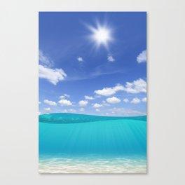 Sunny Sea Canvas Print