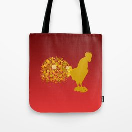 2017 Chinese Lunar New Year Of The Rooster Tote Bag