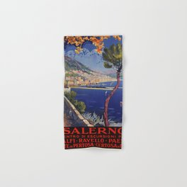 Salerno Italy vintage summer travel ad Hand & Bath Towel