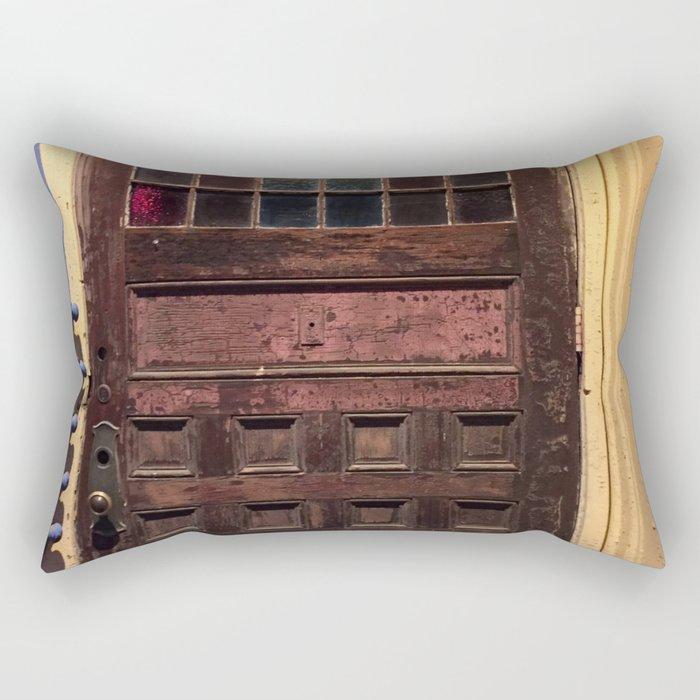 Old door in Cali Rectangular Pillow