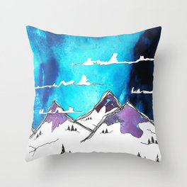 Mount Funk Throw Pillow