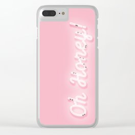 Oh Honey! 'Neon' Sign Clear iPhone Case